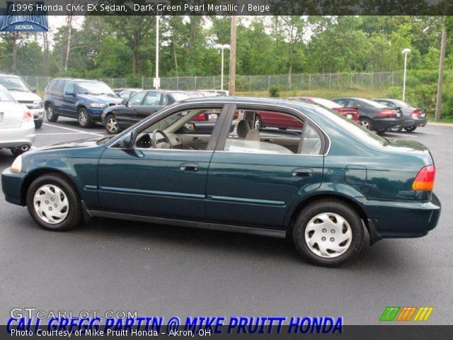 Dark Green Pearl Metallic 1996 Honda Civic Ex Sedan Beige Interior Vehicle