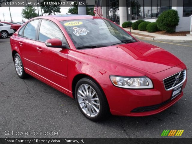 passion red 2010 volvo s40 off black interior vehicle archive 33236982. Black Bedroom Furniture Sets. Home Design Ideas