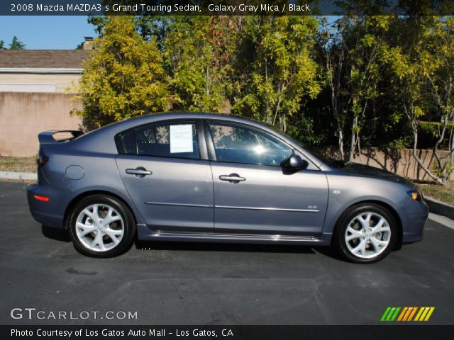 galaxy gray mica 2008 mazda mazda3 s grand touring sedan. Black Bedroom Furniture Sets. Home Design Ideas