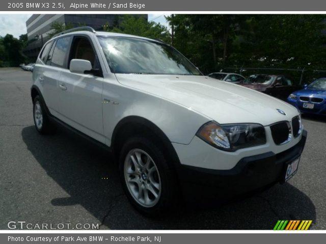 alpine white 2005 bmw x3 sand beige interior vehicle archive 33305468. Black Bedroom Furniture Sets. Home Design Ideas