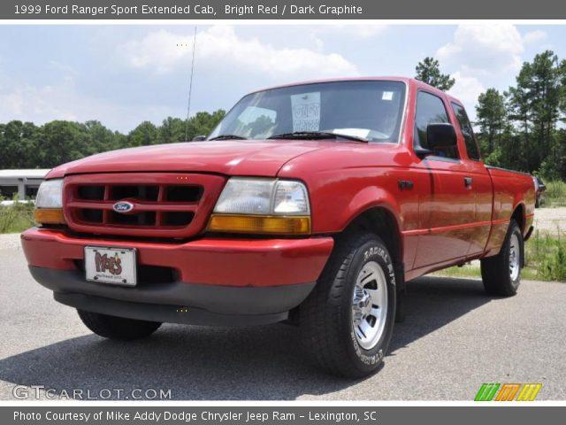 bright red 1999 ford ranger sport extended cab dark graphite interior. Black Bedroom Furniture Sets. Home Design Ideas