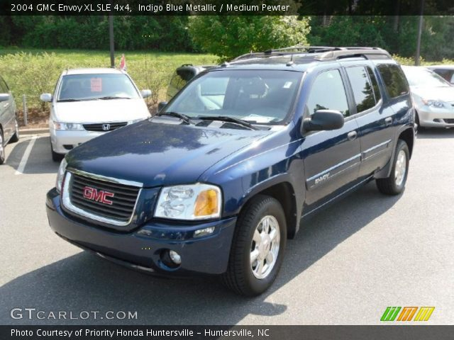 indigo blue metallic 2004 gmc envoy xl sle 4x4 medium. Black Bedroom Furniture Sets. Home Design Ideas