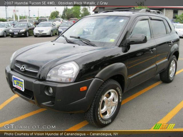 obsidian black metallic 2007 hyundai tucson se 4wd. Black Bedroom Furniture Sets. Home Design Ideas
