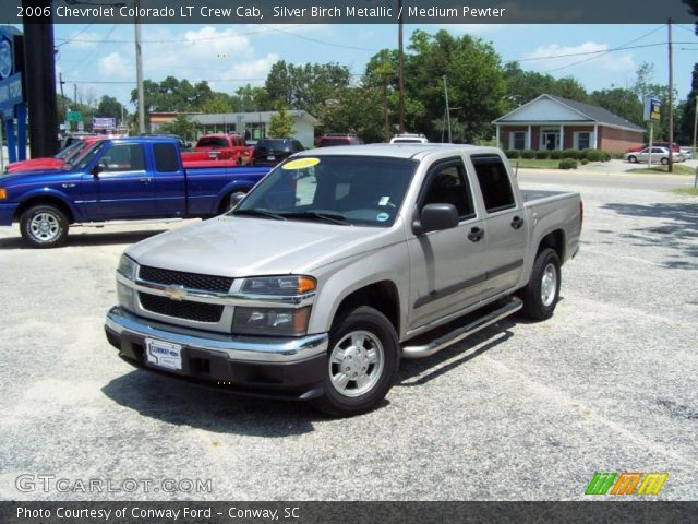 silver birch metallic 2006 chevrolet colorado lt crew cab medium pewter interior gtcarlot. Black Bedroom Furniture Sets. Home Design Ideas