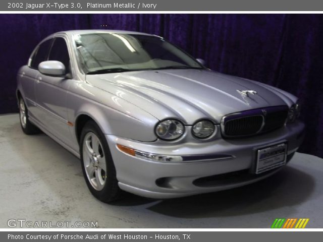 platinum metallic 2002 jaguar x type 3 0 ivory interior vehicle archive. Black Bedroom Furniture Sets. Home Design Ideas