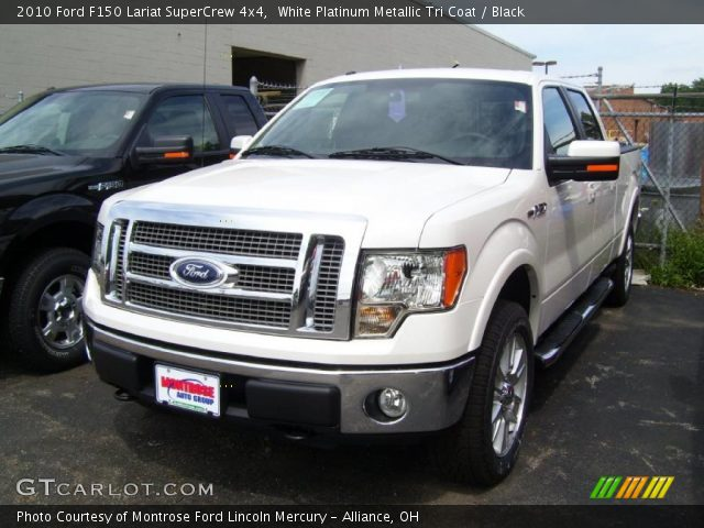 2010 Ford F150 Lariat SuperCrew 4x4 in White Platinum Metallic Tri Coat