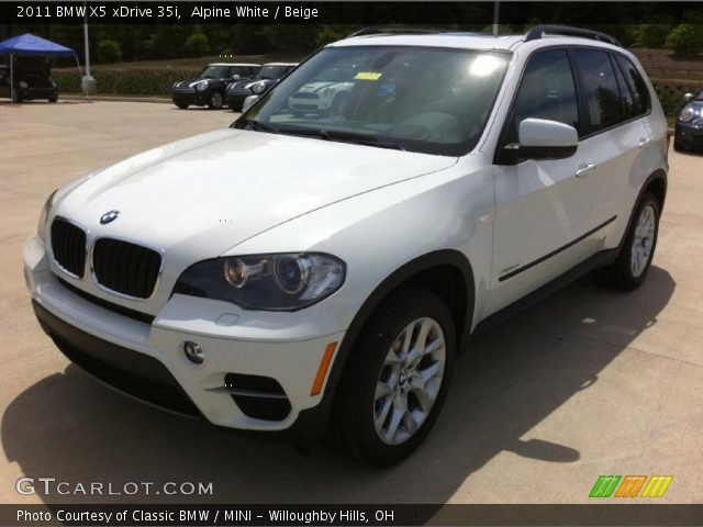 alpine white 2011 bmw x5 xdrive 35i beige interior vehicle archive 33439362. Black Bedroom Furniture Sets. Home Design Ideas