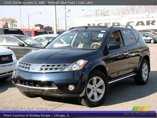 midnight blue pearl 2006 nissan murano sl awd cafe. Black Bedroom Furniture Sets. Home Design Ideas