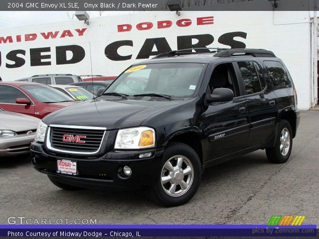 onyx black 2004 gmc envoy xl sle dark pewter interior. Black Bedroom Furniture Sets. Home Design Ideas