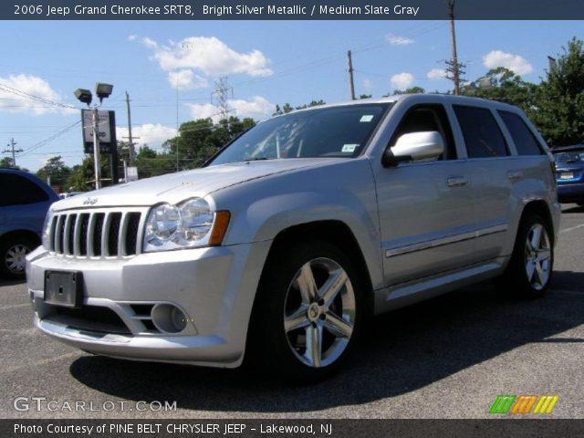 bright silver metallic 2006 jeep grand cherokee srt8 medium slate gray interior gtcarlot. Black Bedroom Furniture Sets. Home Design Ideas