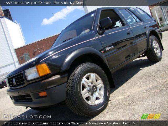 Ebony Black 1997 Honda Passport Ex 4wd Gray Interior Vehicle Archive 33548454