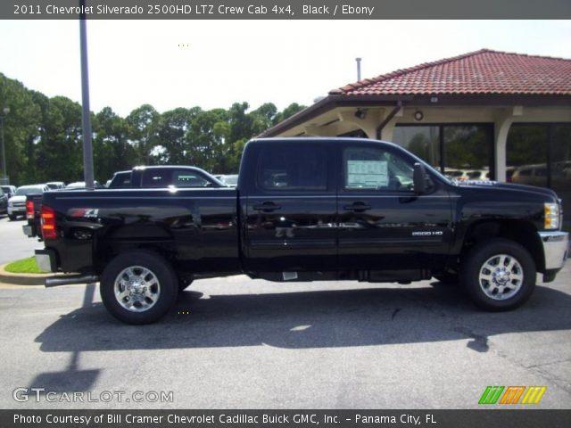 black 2011 chevrolet silverado 2500hd ltz crew cab 4x4 ebony interior. Black Bedroom Furniture Sets. Home Design Ideas