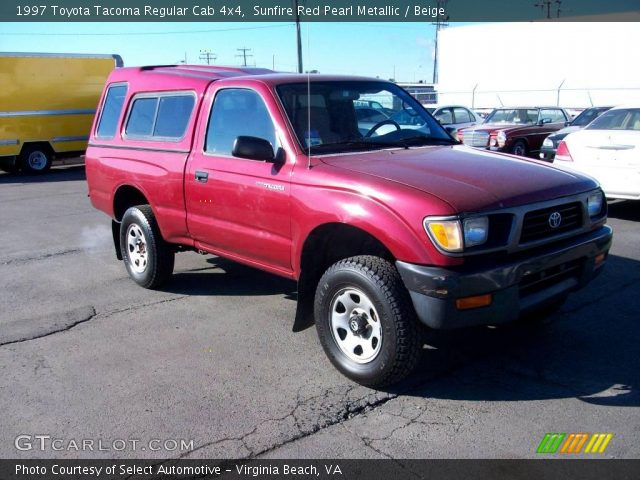 Sunfire red pearl metallic 1997 toyota tacoma regular - 1997 toyota tacoma interior parts ...
