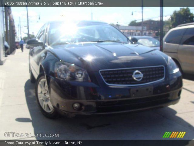 Super Black 2005 Nissan Altima 25 S Charcoalgray Interior