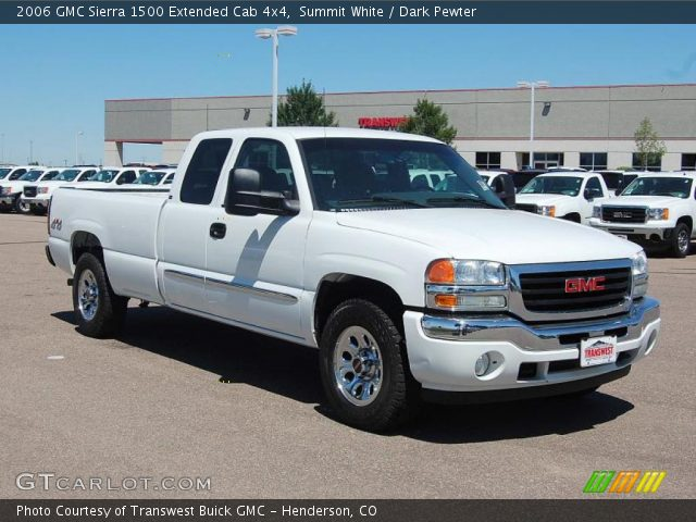 summit white 2006 gmc sierra 1500 extended cab 4x4. Black Bedroom Furniture Sets. Home Design Ideas