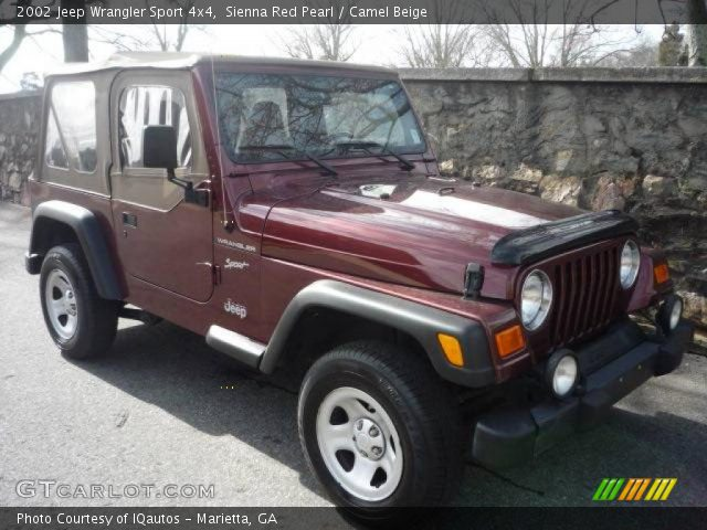 sienna red pearl 2002 jeep wrangler sport 4x4 camel. Black Bedroom Furniture Sets. Home Design Ideas