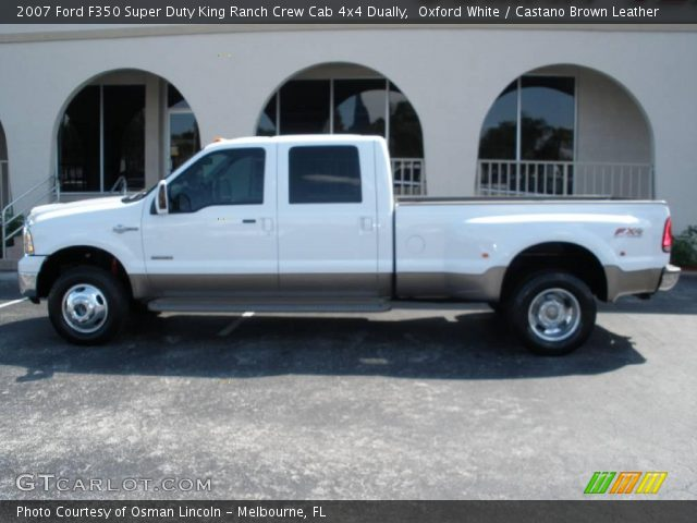 oxford white 2007 ford f350 super duty king ranch crew. Black Bedroom Furniture Sets. Home Design Ideas