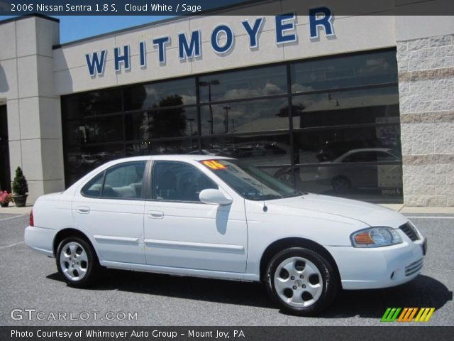 cloud white 2006 nissan sentra 1 8 s sage interior vehicle archive 33673749. Black Bedroom Furniture Sets. Home Design Ideas