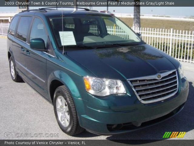 melbourne green pearl 2009 chrysler town country touring medium slate gray light shale. Black Bedroom Furniture Sets. Home Design Ideas