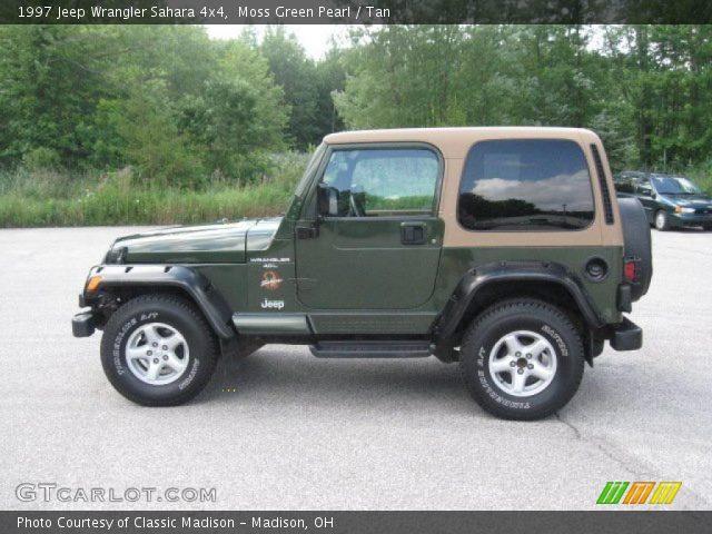 moss green pearl 1997 jeep wrangler sahara 4x4 tan. Black Bedroom Furniture Sets. Home Design Ideas