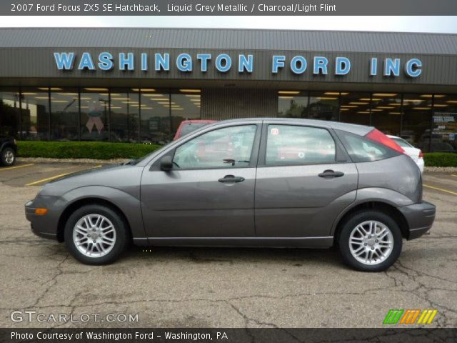 liquid grey metallic 2007 ford focus zx5 se hatchback. Black Bedroom Furniture Sets. Home Design Ideas