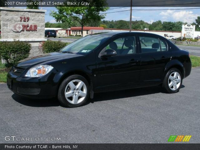 black 2007 chevrolet cobalt lt sedan gray interior. Black Bedroom Furniture Sets. Home Design Ideas