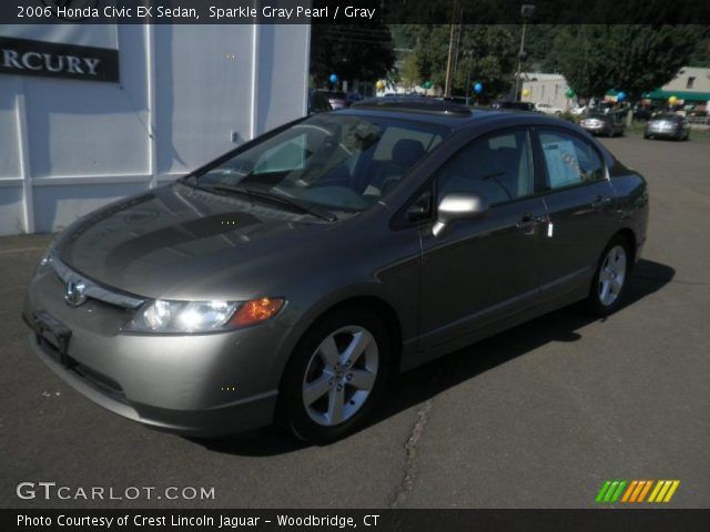 sparkle gray pearl 2006 honda civic ex sedan gray interior vehicle archive. Black Bedroom Furniture Sets. Home Design Ideas