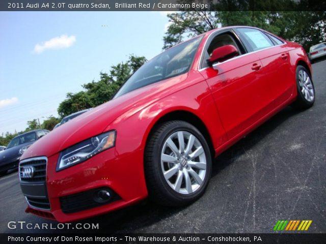 Audi A4 2011 Red. Brilliant Red 2011 Audi A4