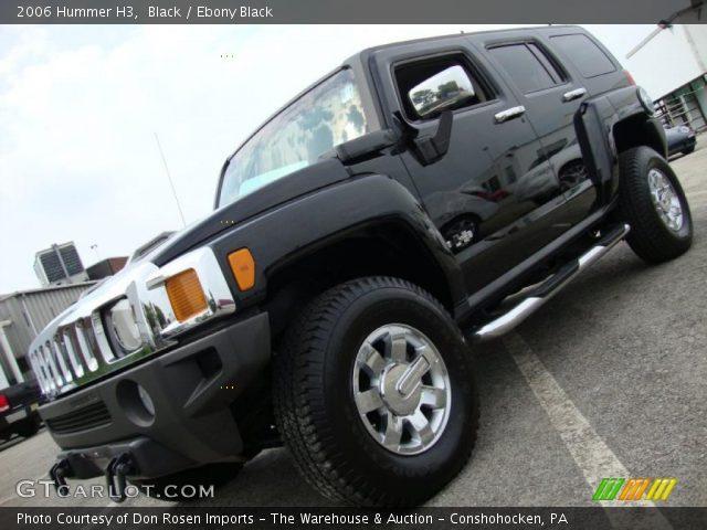 2006 Hummer H3  in Black