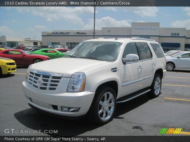 White Diamond 2010 Cadillac Escalade Luxury AWD with Cashmere/Cocoa interior