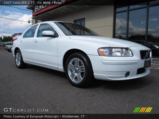 ice white 2007 volvo s60 2 5t beige interior vehicle archive 33802234. Black Bedroom Furniture Sets. Home Design Ideas