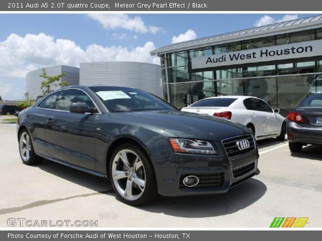 Meteor Grey Pearl Effect 2011 Audi A5 2.0T quattro Coupe with Black interior