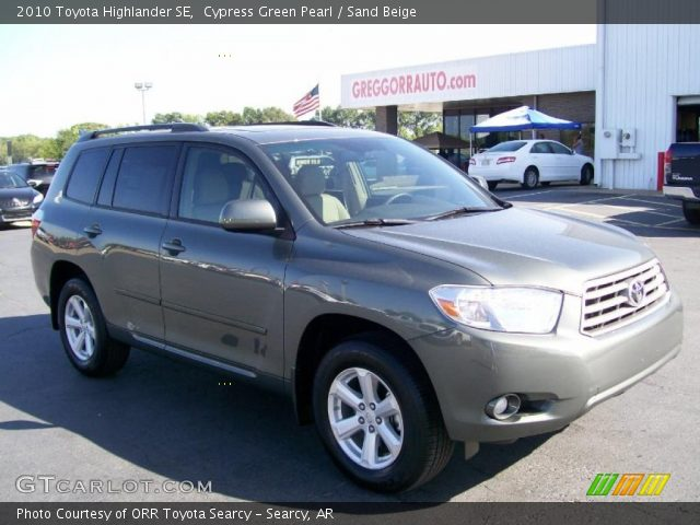 cypress green pearl 2010 toyota highlander se sand. Black Bedroom Furniture Sets. Home Design Ideas