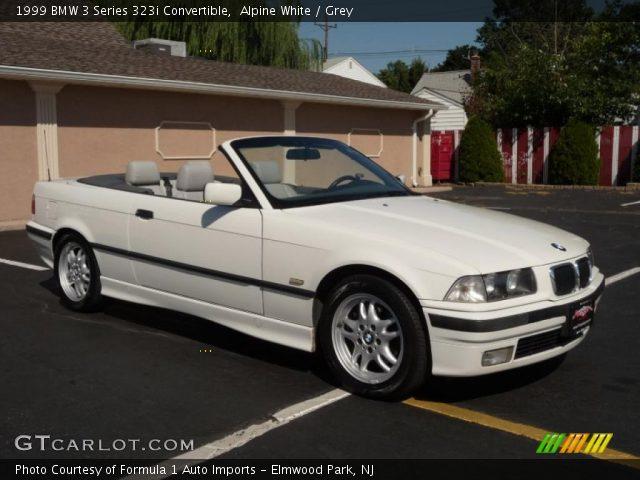 alpine white 1999 bmw 3 series 323i convertible grey interior vehicle. Black Bedroom Furniture Sets. Home Design Ideas