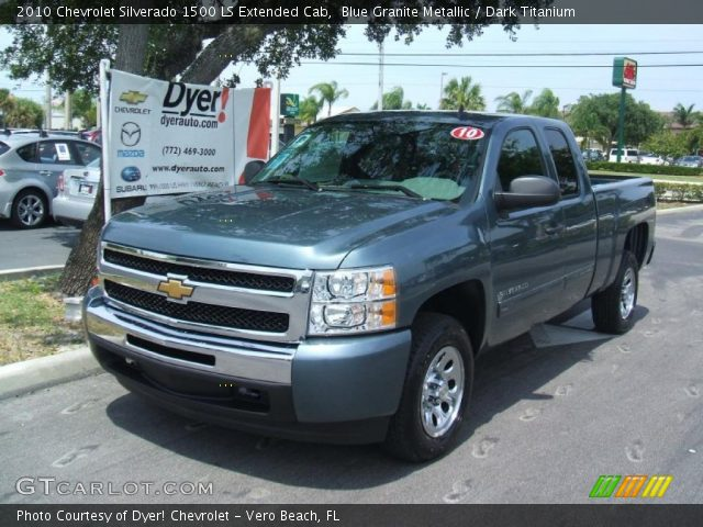blue granite metallic 2010 chevrolet silverado 1500 ls extended cab dark titanium interior. Black Bedroom Furniture Sets. Home Design Ideas