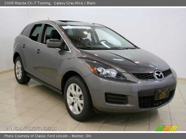 galaxy gray mica 2008 mazda cx 7 touring black interior vehicle archive. Black Bedroom Furniture Sets. Home Design Ideas