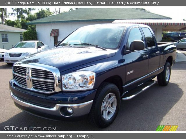 patriot blue pearl 2008 dodge ram 1500 big horn edition quad cab medium slate gray interior. Black Bedroom Furniture Sets. Home Design Ideas