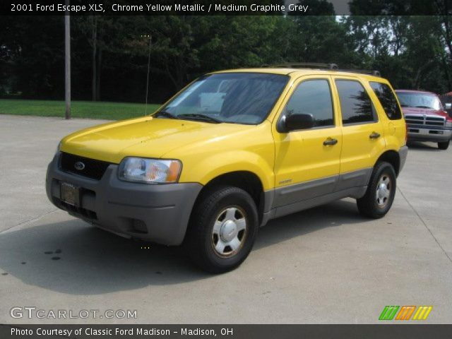2001 Ford Escape XLS in Chrome Yellow Metallic. Click to see large