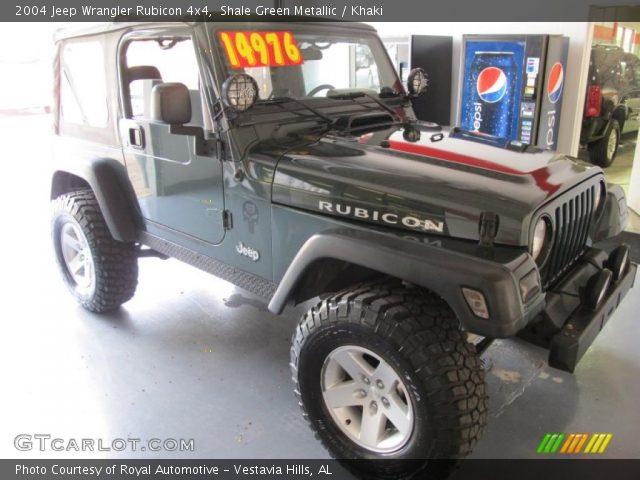 Shale Green Metallic 2004 Jeep Wrangler Rubicon 4x4 Khaki Interior Vehicle