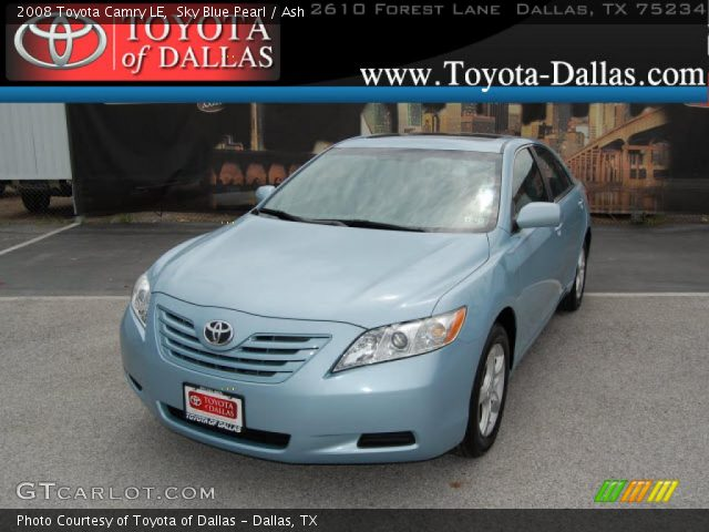 sky blue pearl 2008 toyota camry le ash interior vehicle archive 33986625. Black Bedroom Furniture Sets. Home Design Ideas