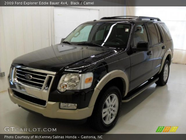 black 2009 ford explorer eddie bauer 4x4 camel interior vehicle archive. Black Bedroom Furniture Sets. Home Design Ideas