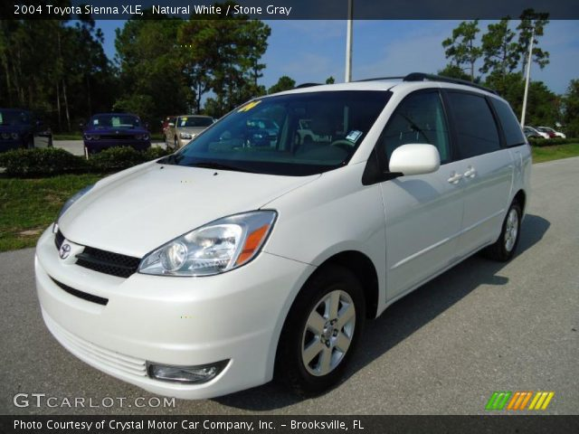 natural white 2004 toyota sienna xle stone gray interior vehicle archive. Black Bedroom Furniture Sets. Home Design Ideas