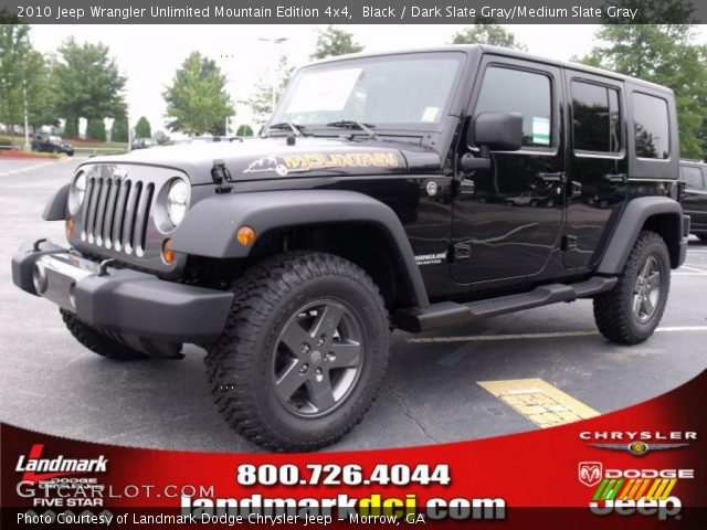 Black 2010 Jeep Wrangler Unlimited Mountain Edition 4x4 Dark Slate Gray Medium Slate Gray