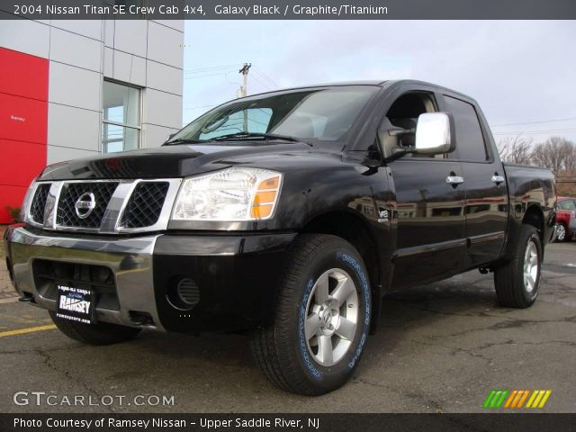galaxy black 2004 nissan titan se crew cab 4x4. Black Bedroom Furniture Sets. Home Design Ideas