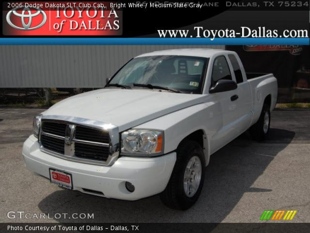 bright white 2006 dodge dakota slt club cab medium slate gray interior. Black Bedroom Furniture Sets. Home Design Ideas