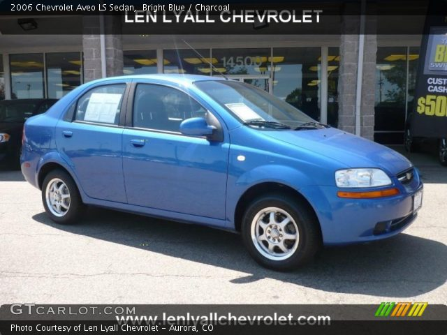 bright blue 2006 chevrolet aveo ls sedan charcoal. Black Bedroom Furniture Sets. Home Design Ideas