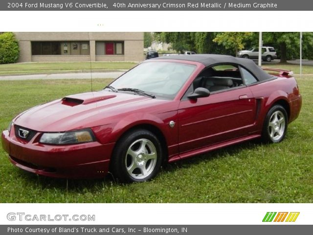 40th anniversary crimson red metallic 2004 ford mustang. Black Bedroom Furniture Sets. Home Design Ideas