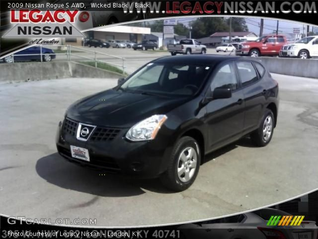 wicked black 2009 nissan rogue s awd black interior. Black Bedroom Furniture Sets. Home Design Ideas