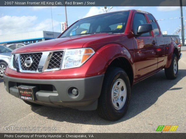 red brawn 2007 nissan frontier xe king cab steel interior vehicle archive. Black Bedroom Furniture Sets. Home Design Ideas