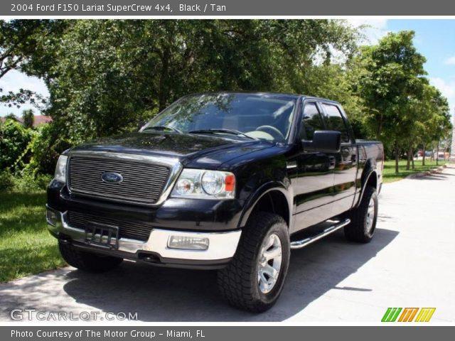 Black - 2004 Ford F150 Lariat SuperCrew 4x4 - Tan Interior ...